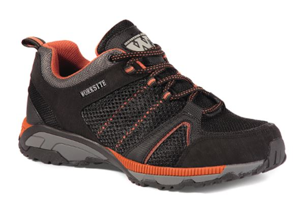 Picture of Black Mesh Safety Trainer With Steel Midsole
