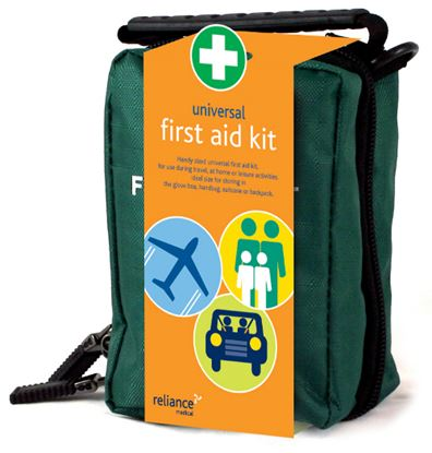 Picture of 1 Person First Aid Kit In Zipper Pouch C/w Eyewash