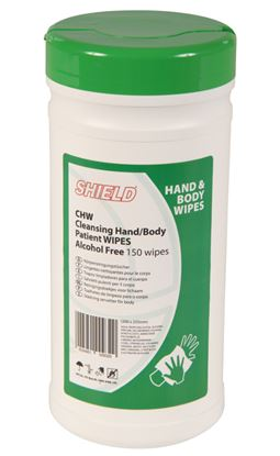 Picture of Cleansing Hand & Body Patient Wipes CHW