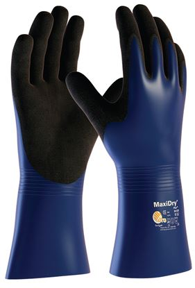 Picture of MaxiDry Plus Blue Chemical Glove - 30cm - 12/72