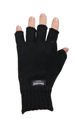 Picture of Knitted Acrylic Thinsulate Lined Fingerless Glove