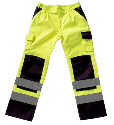 Picture of Olinda Two Tone Polycotton Kneepad Trousers