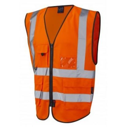 Picture of Executive Zip Front Hi-Vis Waistcoat - Orange