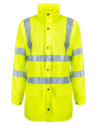 Picture of PU Coated Breathable Unlined Jacket EN471 Class 3