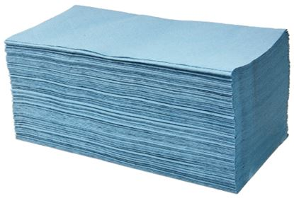 Picture of Interfold Single Ply Paper Towels - Blue