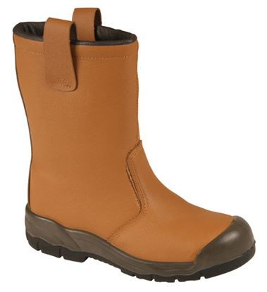 Picture of Fur Lined Rigger Safety Boot with Steel Midsole