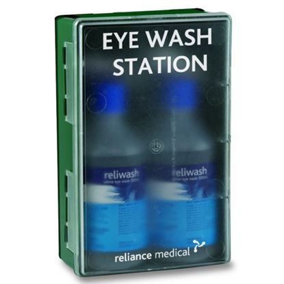 Picture of Eyewash Station With Clear Front & 2 Bottles