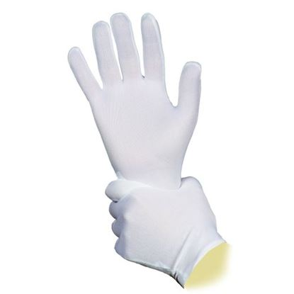 Picture of Low Lint Mens Bleached Fourchette Cotton Glove