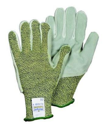 Picture of Leather Patch on Kevlar Cut Resistant Glove EN388