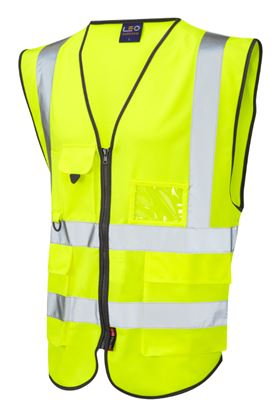 Picture of Executive Zip Front Hi-Vis Waistcoat - Yellow