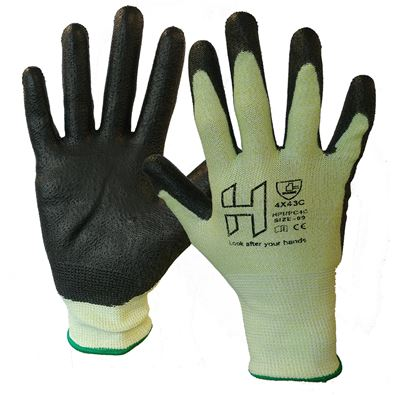 Picture of H PU Palm Coated 4X43C Cut Resist. Glove (10/120)
