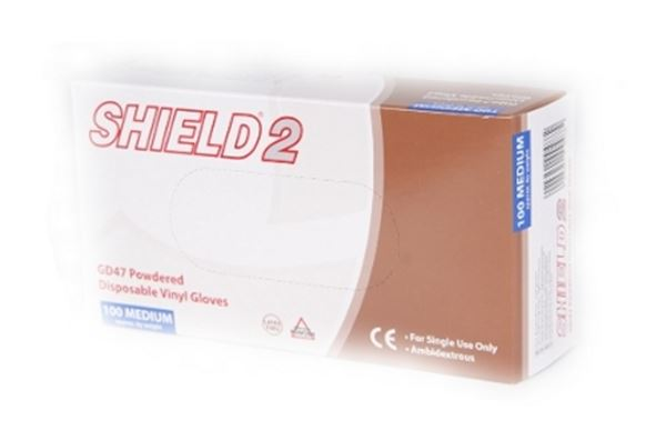 Picture of Clear Vinyl Powdered Disposable Gloves GD47